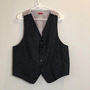 John Varvato's Blue and white pinstripe vest